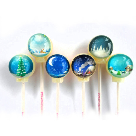 Winter Scenes Lollipops // 6 Piece