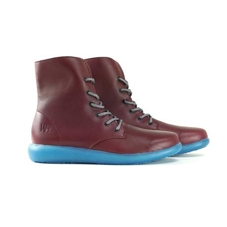 Larries High-Top Sneaker // Burgundy + Coral Blue (US: 6)