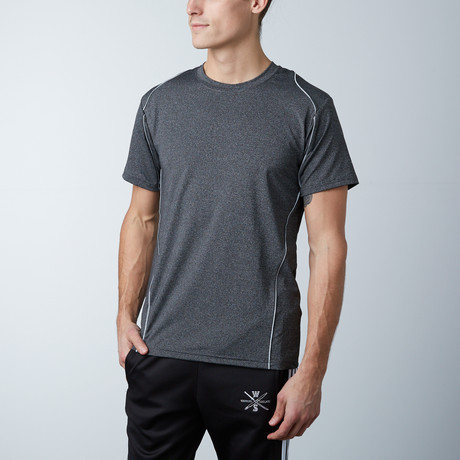 Traxx Fitness Tech Tee // Charcoal (XS)