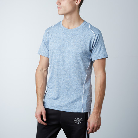 Traxx Fitness Tech Tee // Light Blue (XS)