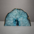 Agate Bookends // Teal A Quality (Medium)