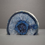 Agate Bookends // Blue A Quality (Medium)