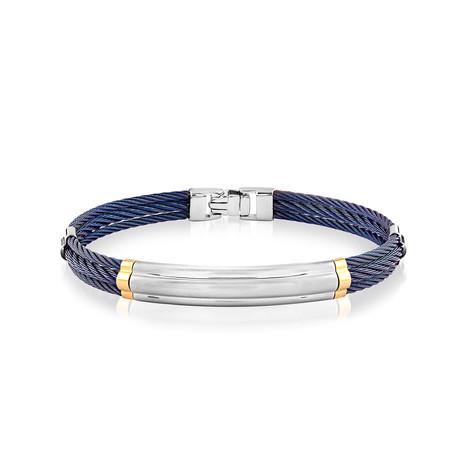 Double Cable Bracelet // Blue (XS)