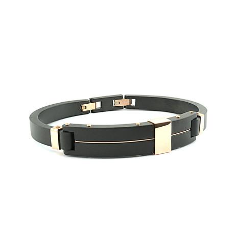 Forged Bracelet // Black + Gold (XS)
