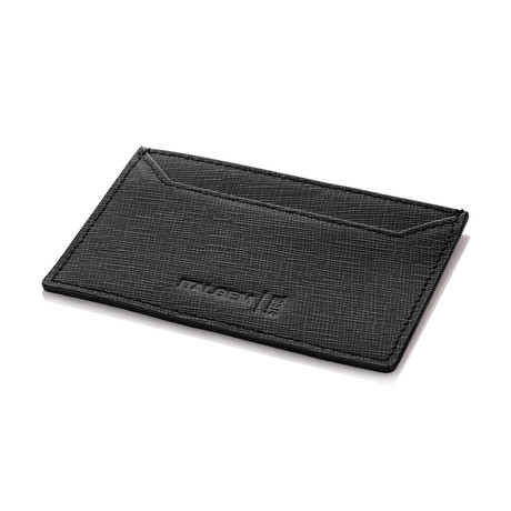 Slim RFID Leather Wallet // Black