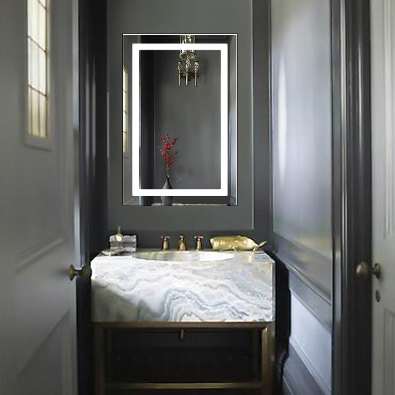 Led Bathroom Mirror Defogger Dimmer Vertical 18 L X 30 W