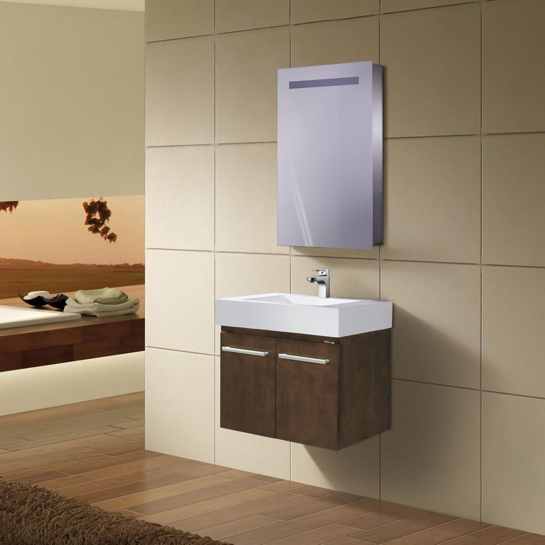 LED Medicine Cabinet + Sliding Mirror // Outlet + Shelves - Krugg ...