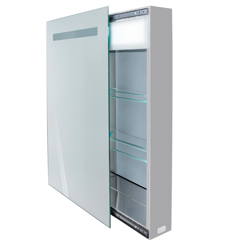 Led Medicine Cabinet Sliding Mirror Outlet Shelves
