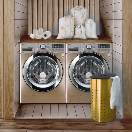 Laundry Bin + MDF Lid // 50L