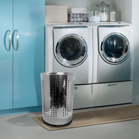 Stainless Steel Laundry Bin // 46L (Polished Lid)
