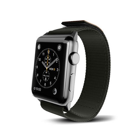 Black Nylon Active Band // 38mm (Space Gray Aluminum)