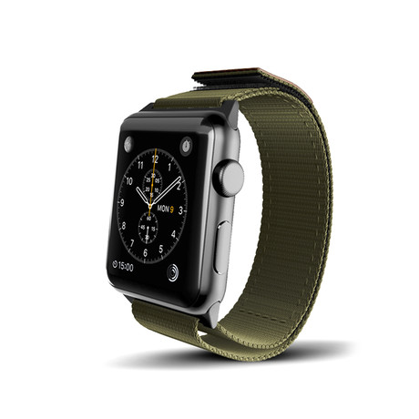 Olive Nylon Active Band // 38mm (Space Gray Aluminum)