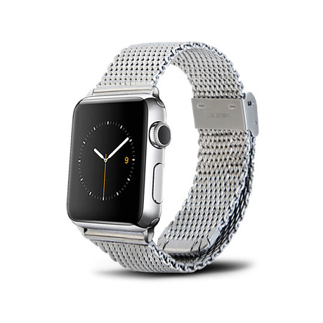Silver Mesh Band // 38mm (Silver Stainless Steel)
