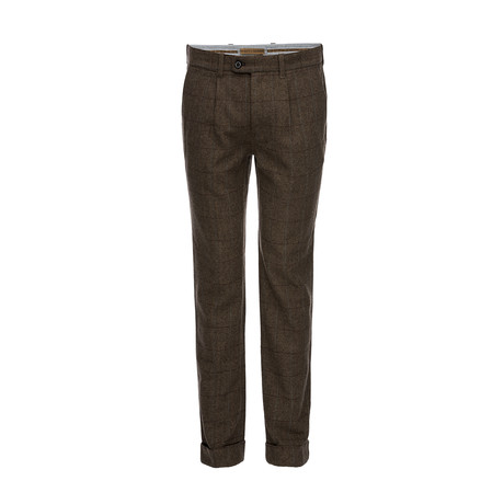 Theodore Cuffed Pant // Brown (28WX30L)