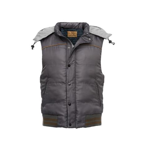 Hooded Nylon Vest // Gray (XS)