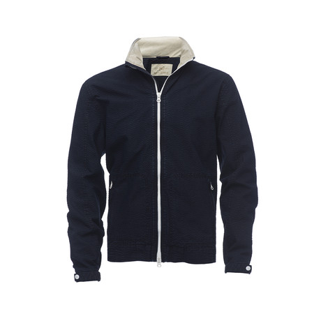 Front Zip Leisure Jacket // Navy (XS)