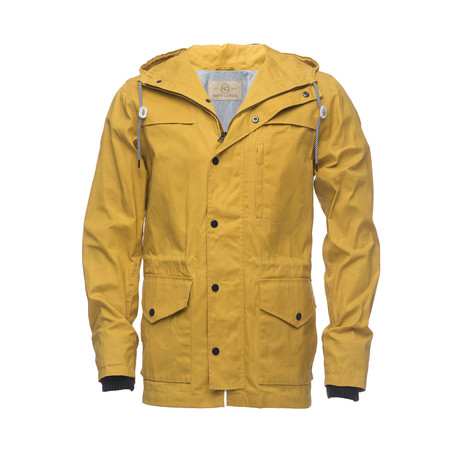 Waxed Hooded Raincoat // Yellow (XS)