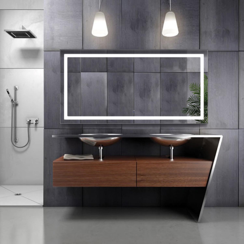 Led Bathroom Mirror Defogger Dimmer Horizontal 60