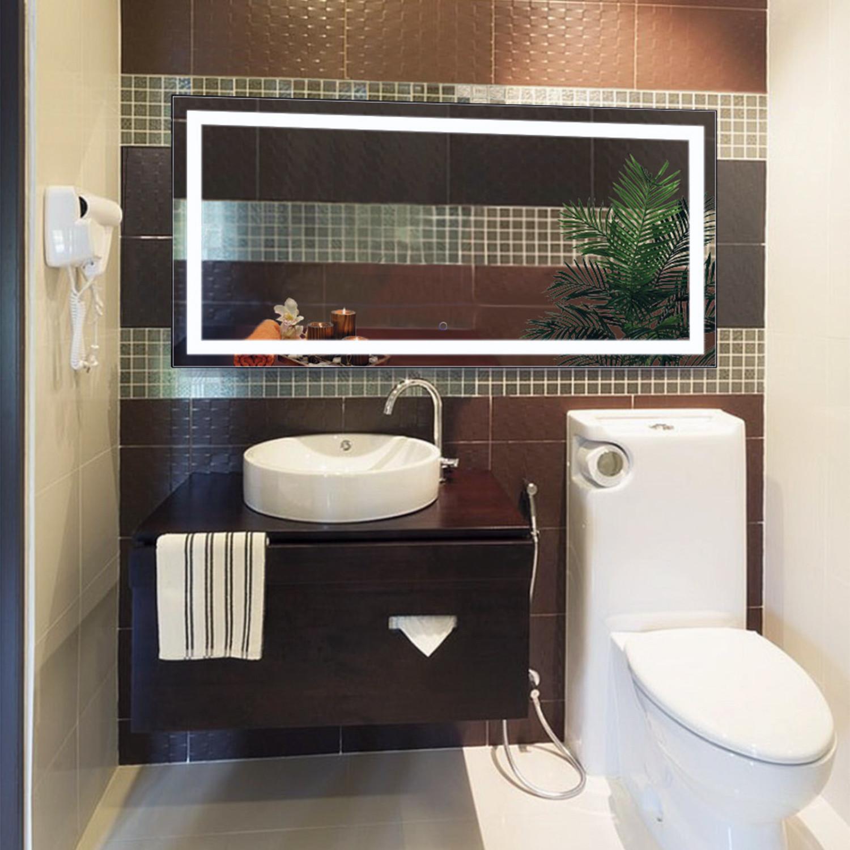 Led Bathroom Mirror Defogger Dimmer Horizontal 60 L X 30 W