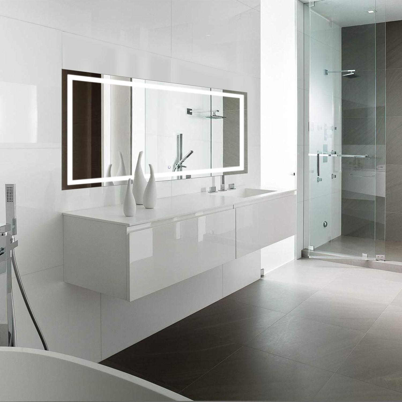 LED Bathroom Mirror // Defogger + Dimmer // Horizontal (60\