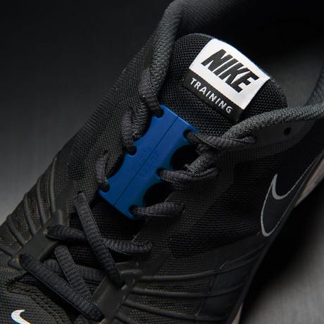 Zubits Magnetic Shoe Closures // Navy Blue (Size 1)