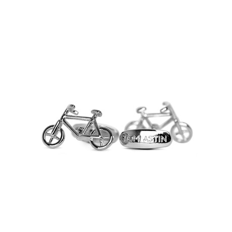 Bicycle Cufflinks (Gold)