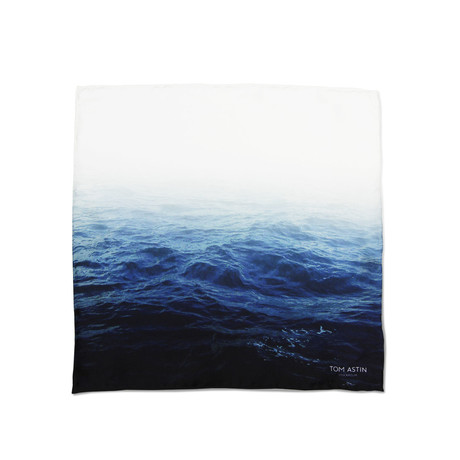 Ocean Motion Pocket Square