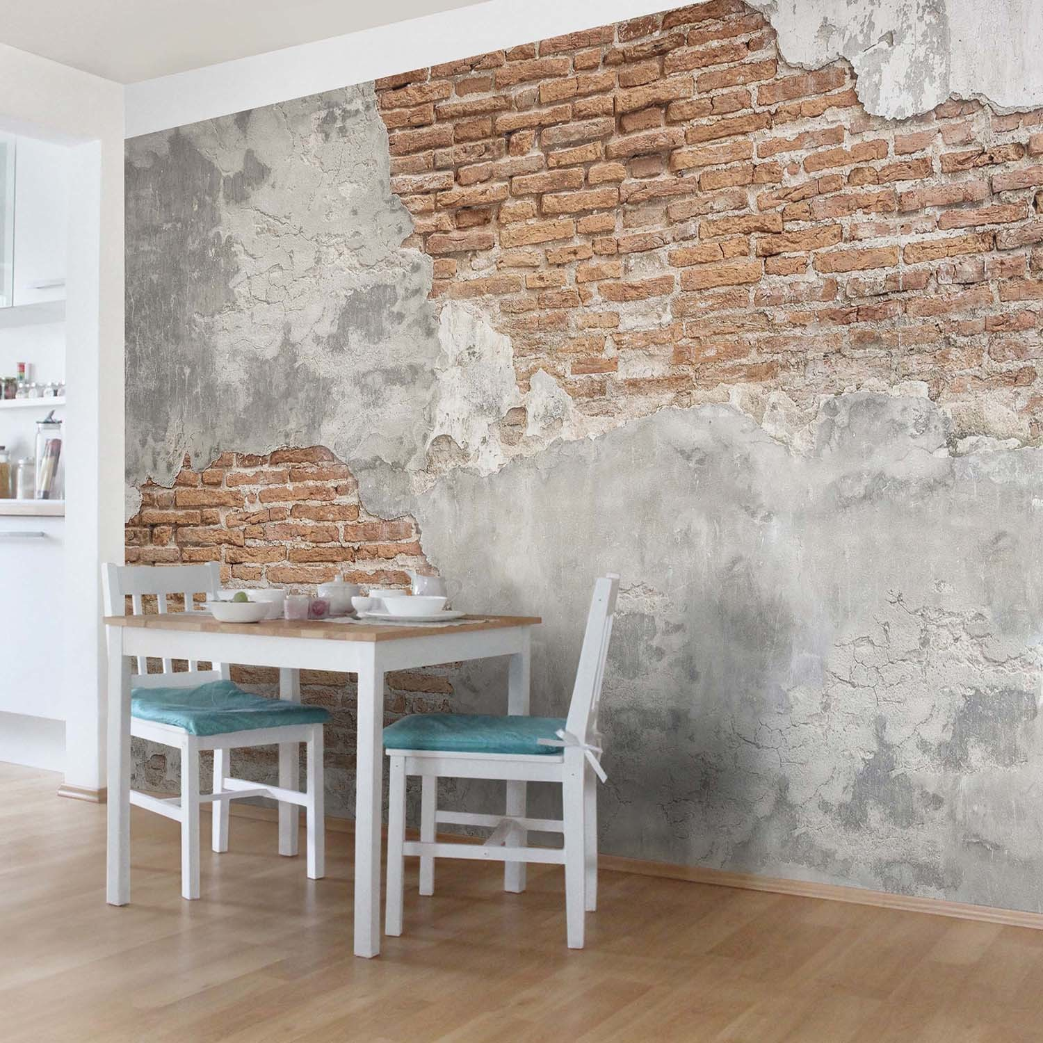 shabby brick wall your deco shop touch of modern. Black Bedroom Furniture Sets. Home Design Ideas