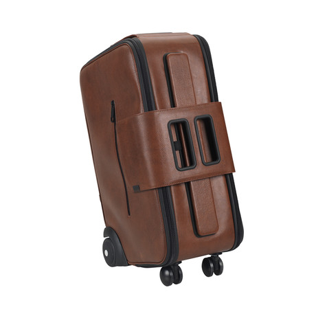 IBY6 Wheeled Suitcase // Coffee Leather (Small)