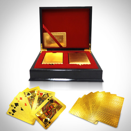 24K Gold Plated Playing Cards // 2 Decks // Mosaic