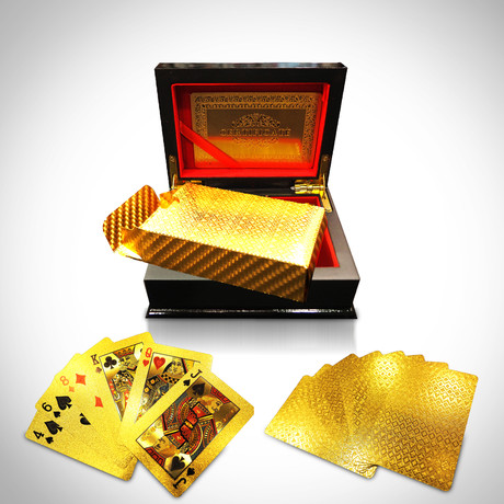 24K Gold Plated Playing Cards // Mosaic