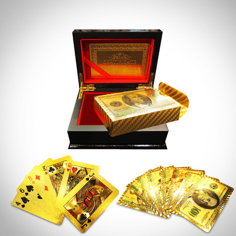 24K Gold Plated Playing Cards // $100