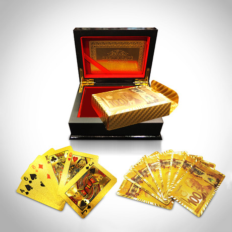 24K Gold Plated Playing Cards // 100 CAD