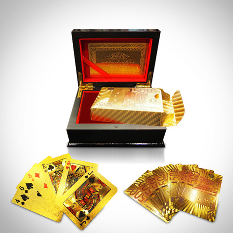 24K Gold Plated Playing Cards // 500€
