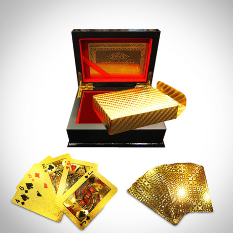 24K Gold Plated Playing Cards // Herringbone