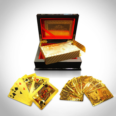 24K Gold Plated Playing Cards // 100£