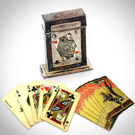 1932 Antique Art Deco Equestrian Playing Card Set