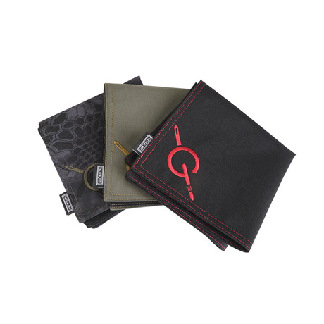 EDC Handkerchief // PCB 8 (Black + Red)