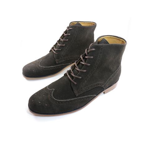 Coffee Wingtip Boots // Brown (US: 7)