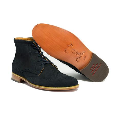 Naval Wingtip Boots // Brown (US: 7)