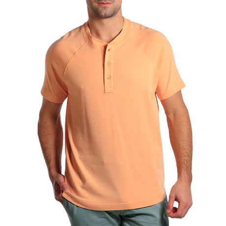S/S Puremeso Henley // Dusty Orange (S)