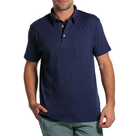 S/S Puremeso Pocket Polo // Heathered Navy (S)