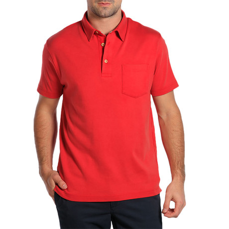 S/S Puremeso Pocket Polo // Red (S)