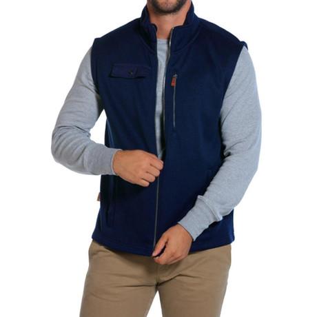 Sweater Fleece Vest // Navy (S)