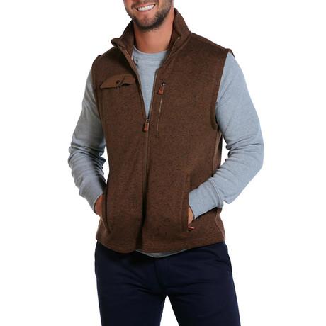 Sweater Fleece Vest // Light Brown (S)