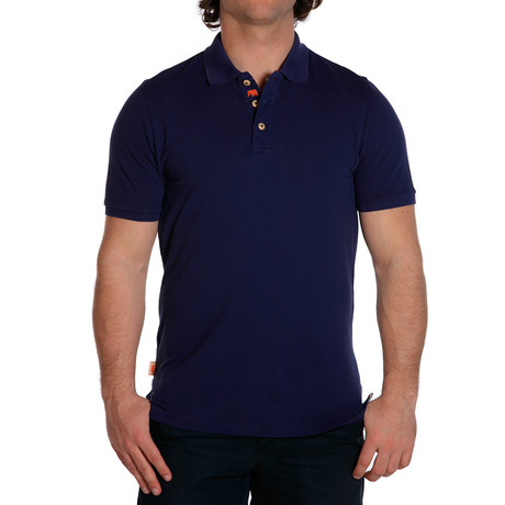 S/S Weekday Pique Polo // Navy (S)
