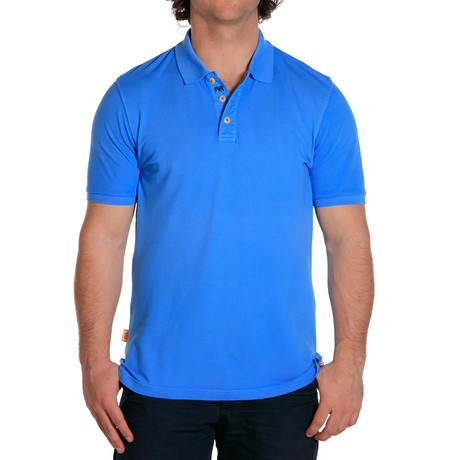 S/S Weekday Pique Polo // Atlantic Blue (S)