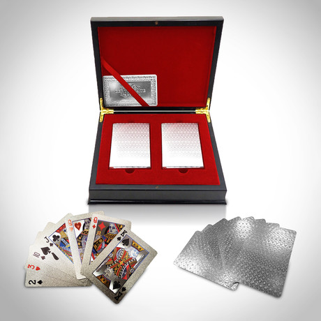 Platinum Plated Playing Cards // 2 Decks // Mosaic
