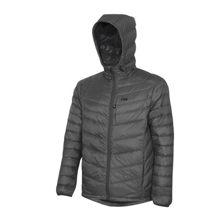 Cascade Hooded Down Jacket // Charcoal (S)
