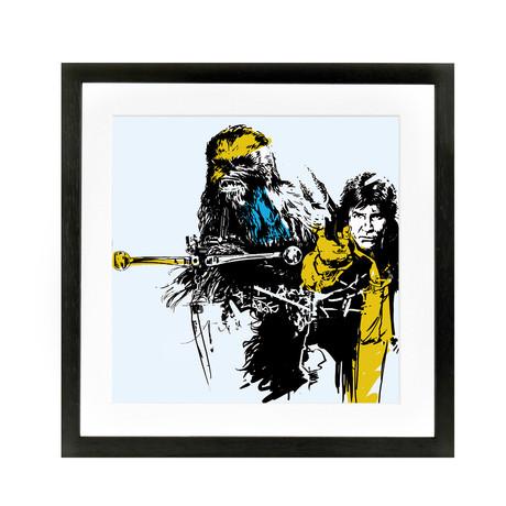 "Han + Chewie Light Colourway (10""W x 10""H x 0.6""D)"